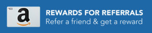 Refer a friend and get rewarded with a 100 dollar Amazon gift card